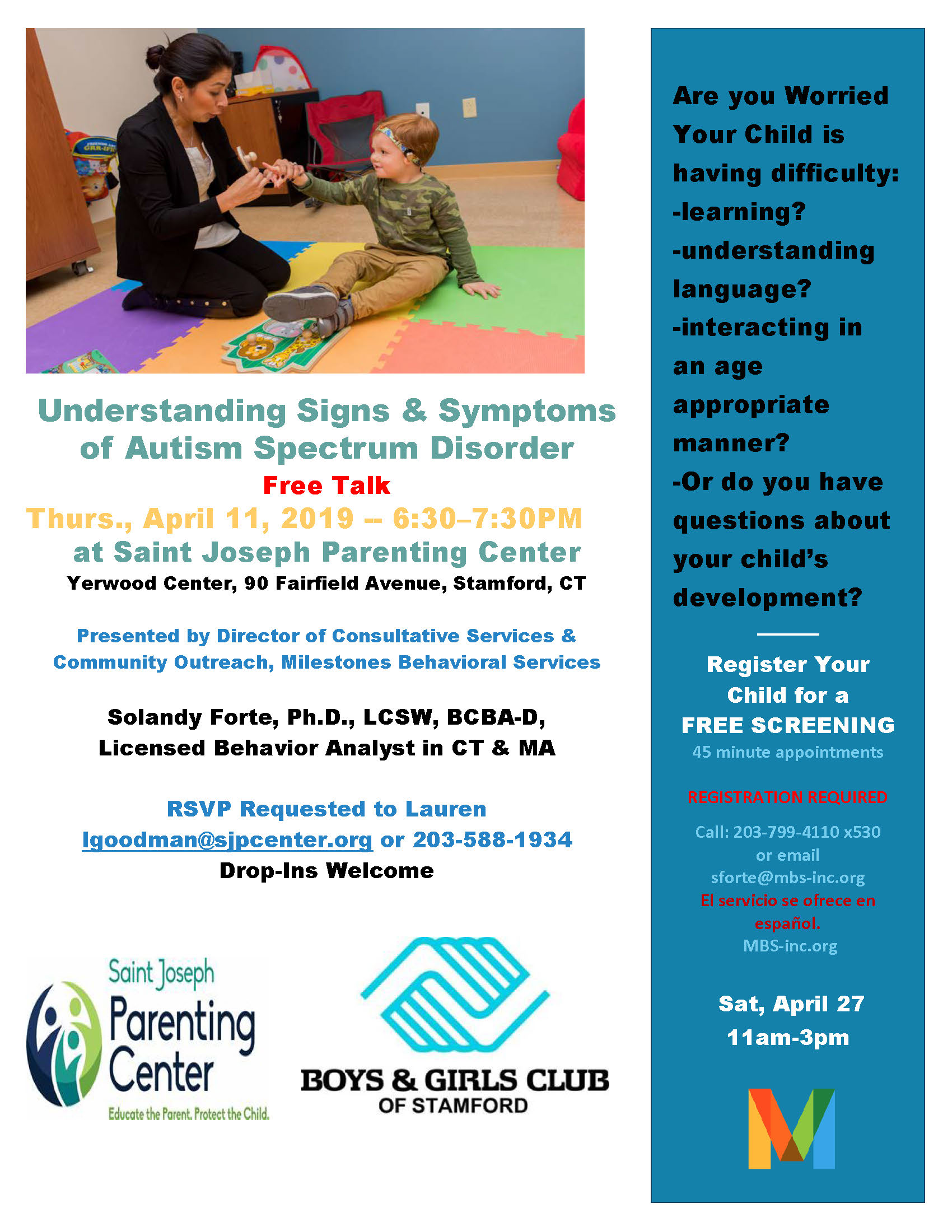Free Talk And Book Signing With Autism >> April 11 Free Talk Understanding The Signs Symptoms Of Autism